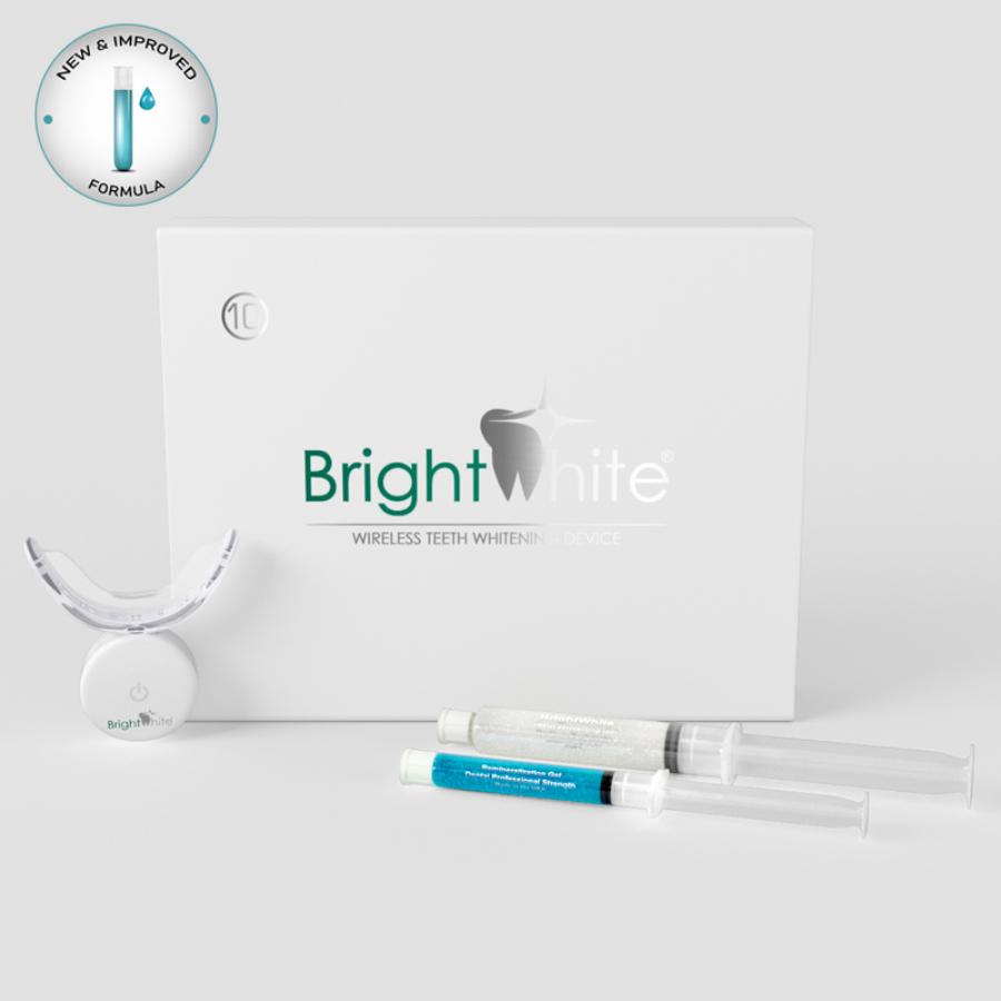BrightWhite® 32 LED-es 10 alkalmas otthoni fogfehérítő szett