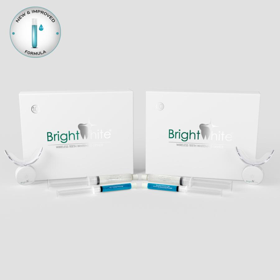 BrightWhite® 32 LED-es 2x10 alkalmas páros otthoni fogfehérítő szett